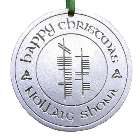 Happy Christmas (Nollaig Shona) Ornament