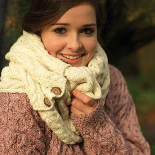 Snood Scarf with Buttons (3 Colors)