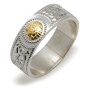 Celtic Warrior Ring - Silver & 14K