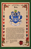 Celebration Family Crest Scroll - Green Border