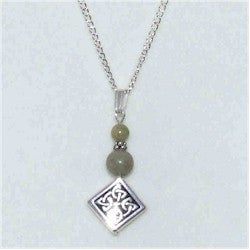 Connemara Marble Diamond Pendant