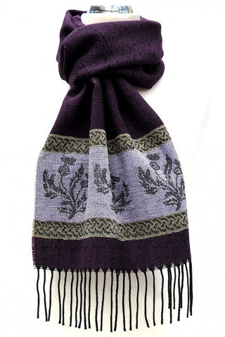 Thistle Scarf - Purple