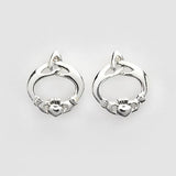 Claddagh & Trinity Knot Earrings - Sterling Silver