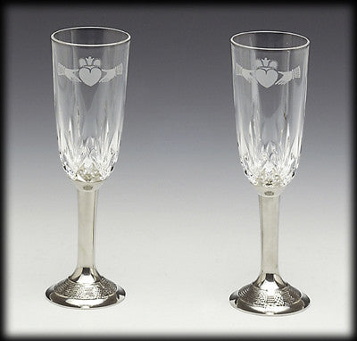 Claddagh Wedding Flutes
