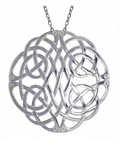 Intricate Large Celtic Knot Pendant