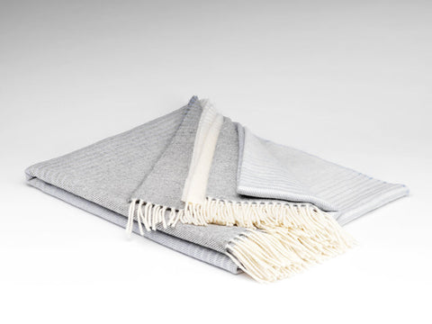 Misty Grey Ombre Supersoft Throw
