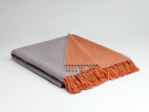 Orange & Smoke Reversible Supersoft Throw