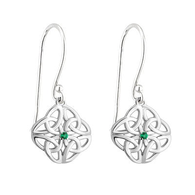 Crystal Celtic Knot Earrings