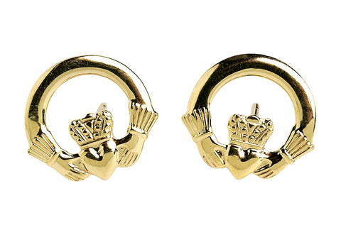Claddagh Earrings - 10ct