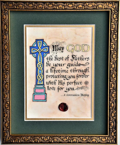 A Communion Blessing Framed Print