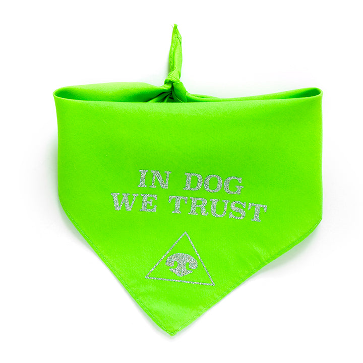 In Dog We Trust Dog Bandana