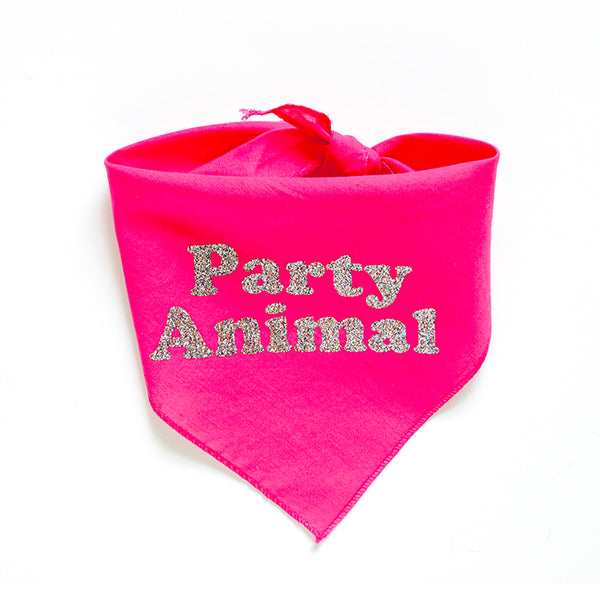 Party Animal Dog Bandana