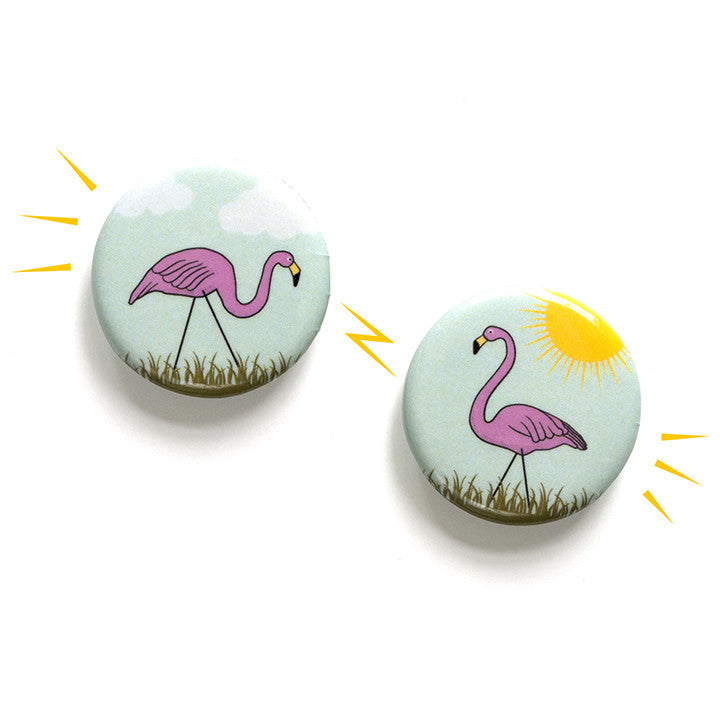 Flamingo Magnet Set
