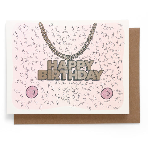 Hairy Birthday Card