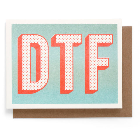 DTF Note Card