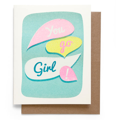Go Girl Note Card