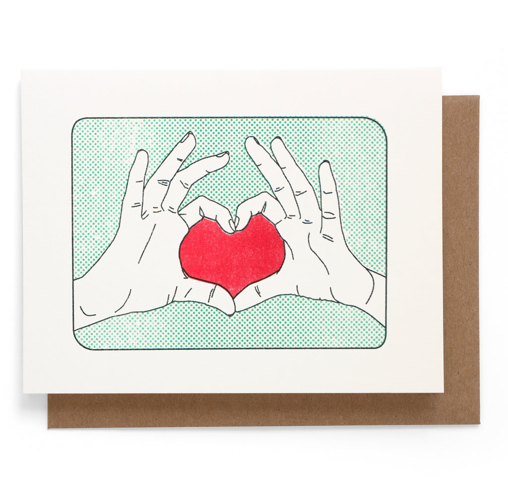 Heart Hands Card