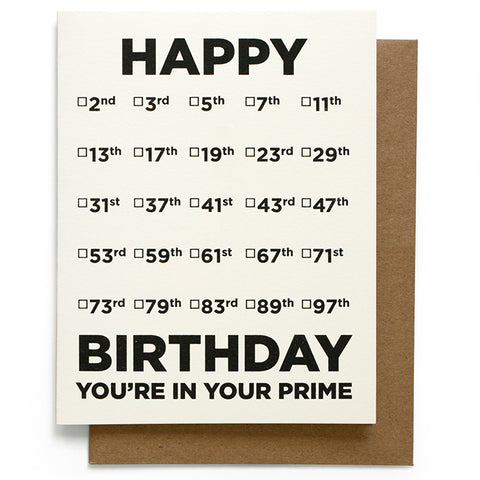 Prime Birthday Card