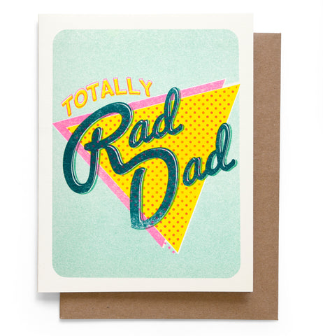 Totally Rad Dad Card