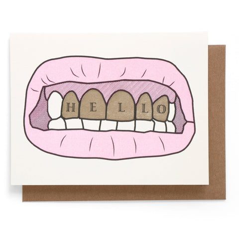 Gold Teeth Note Card