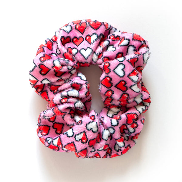 8 Bit Heart Scrunchies