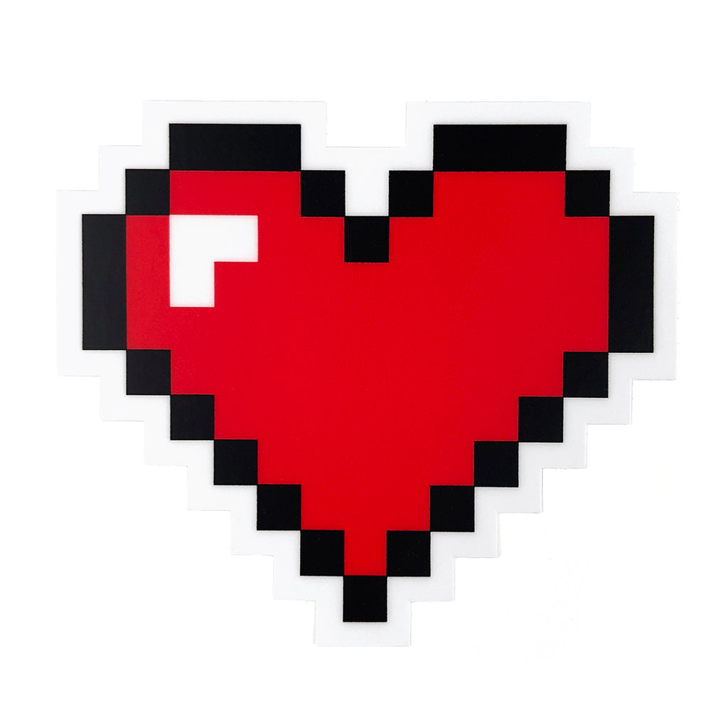 8 Bit Heart Sticker