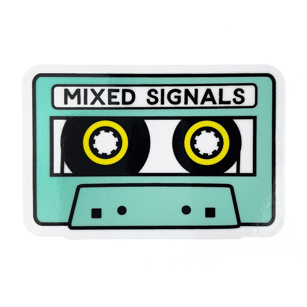 Mixed signals sticker