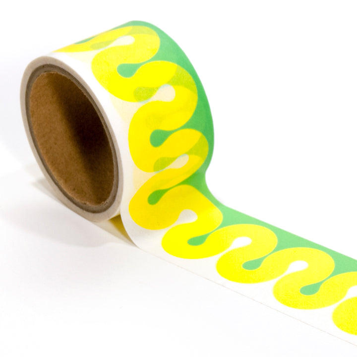 Yellow Squiggle Washi Tape