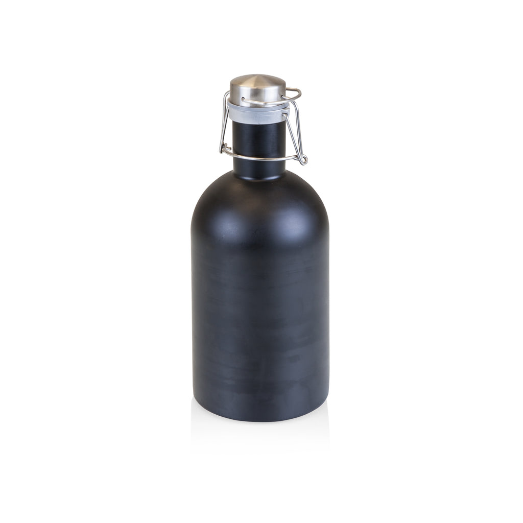 Stainless Steel 64-Oz Growler - Black - Reservoir
