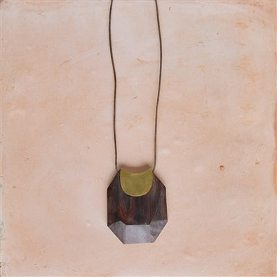 Topanga Pendant - Dark Wood
