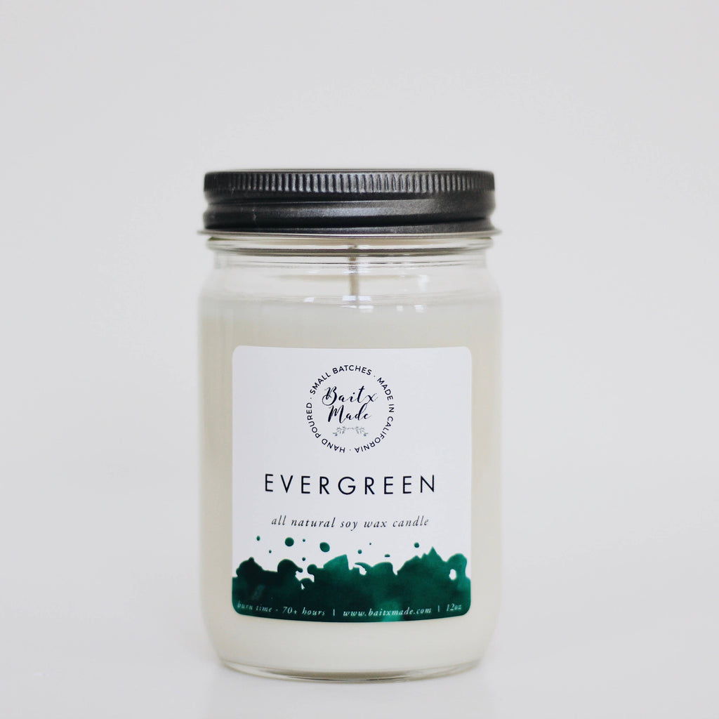 Evergreen candle, 12oz - Reservoir
