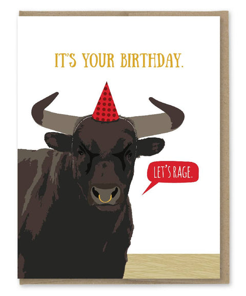 Let's Rage Birthday Card - Reservoir