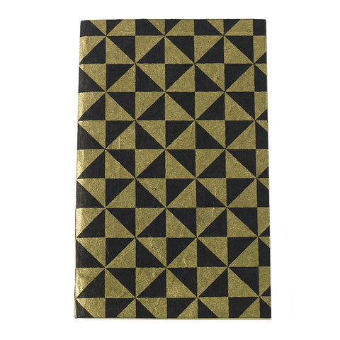 Eco Friendly Notebook - Black Gold - Reservoir