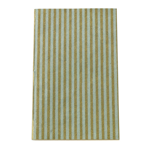 Eco Friendly Notebook - Green Stripe