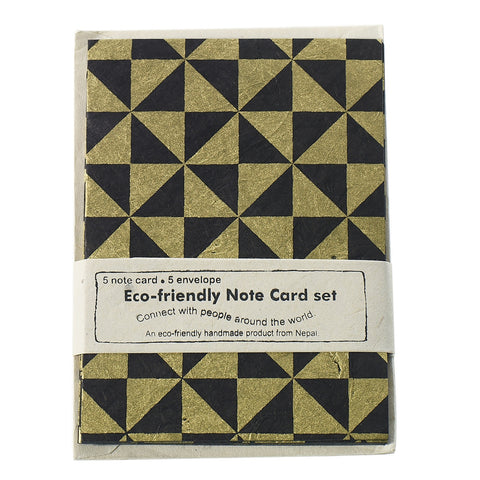 Eco Friendly Set of Cards - Black Gold - Reservoir