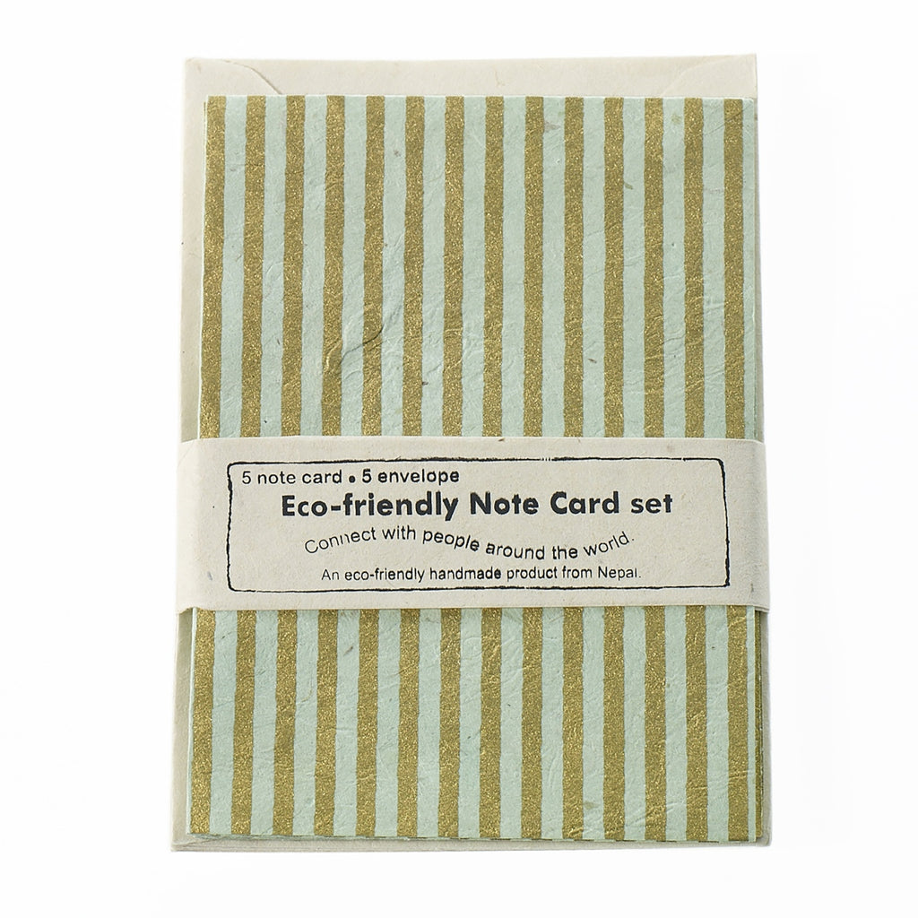 Eco Friendly Set of Cards - Green Stripe - Reservoir