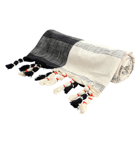Black & Cream Throw - Reservoir