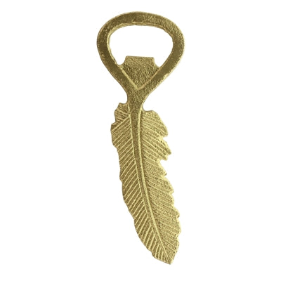 Gold Feather Bottle Opener