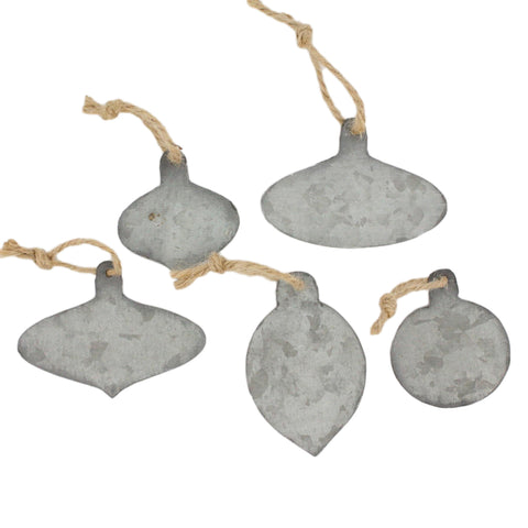 Zinc Metal Ornament Gift Tags - Reservoir