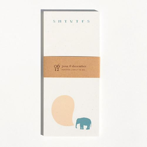 Elephant Notepad - Reservoir