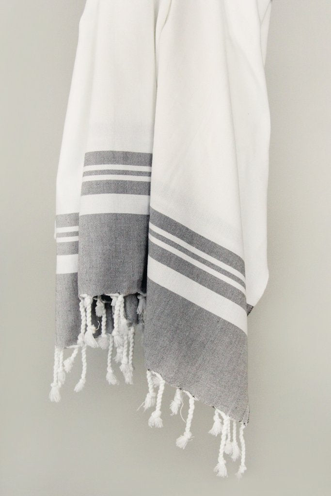 Chalcedony Striped Hand Towel - Reservoir