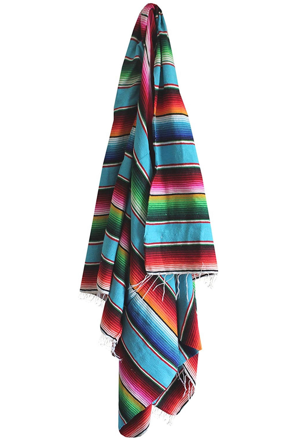 Stripe Mexican Serape Blanket - Reservoir