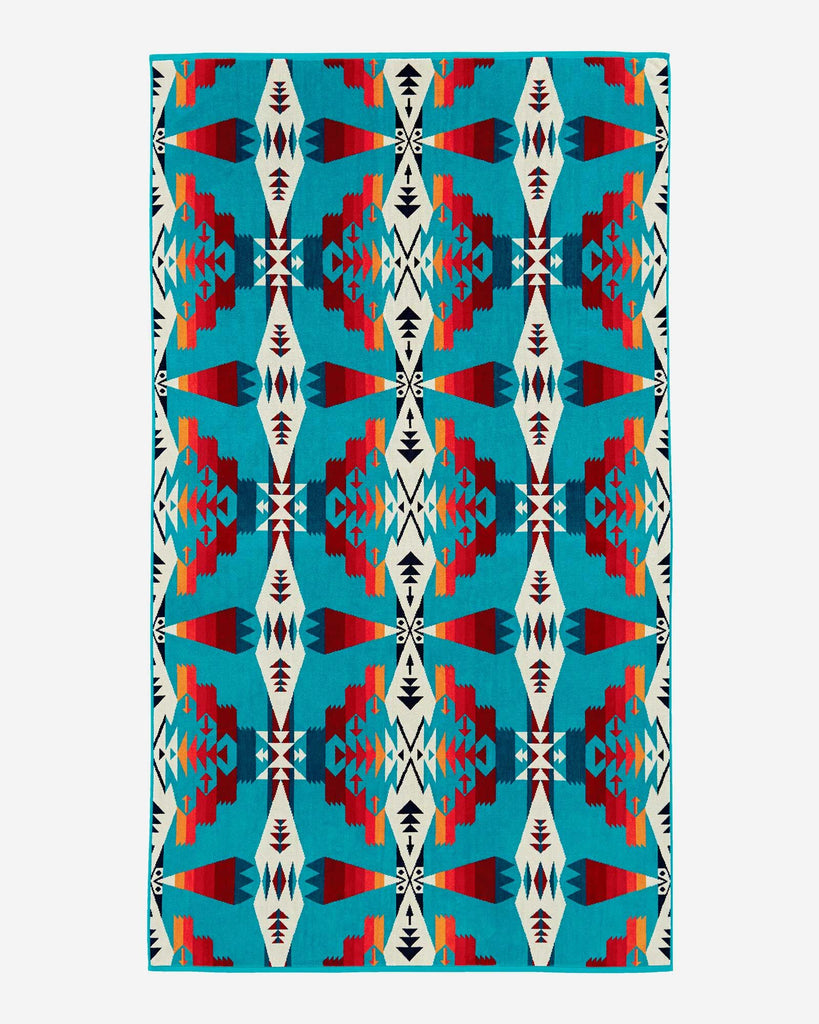 Tuscon Turquoise Oversized Beach Towel