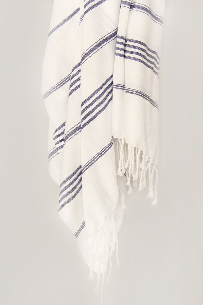 Treasure Striped Hand Towel - Reservoir