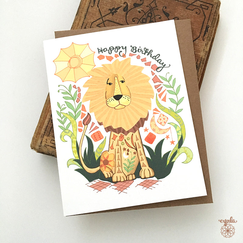 Lion Birthday Card - Reservoir