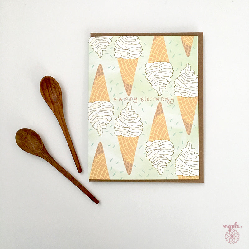 Ice Cream Birthday Card - Reservoir