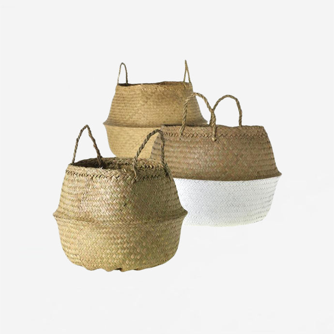 Straw Collapsable Baskets