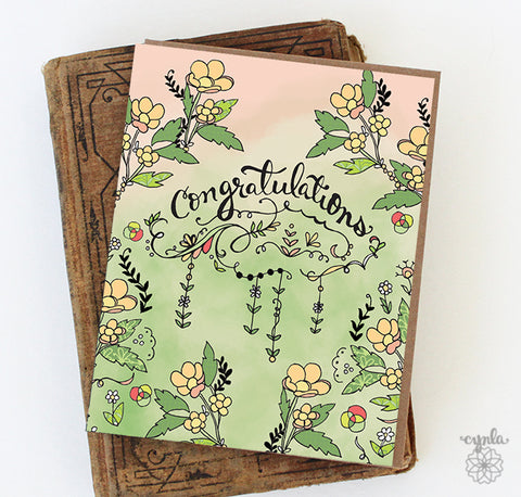 Congratulations Ombre Card