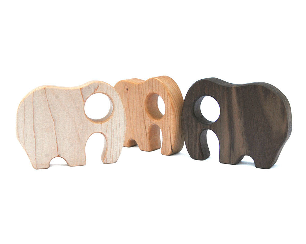 Wooden Elephant Rattle
