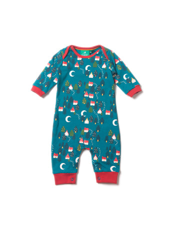Forest Footprints Playsuit - Reservoir